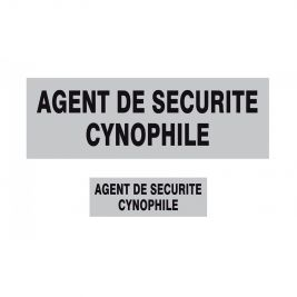 Lot de 2 Bandeaux AGENT DE SECURITE CYNOPHILE - TOE