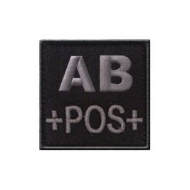 Insigne AB+ de groupe sanguin Noir - TOE Pro