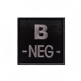 Insigne B- de groupe sanguin Noir - TOE