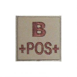 Insigne B+ de groupe sanguin Coyote - TOE Pro