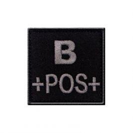 Insigne B+ de groupe sanguin Noir - TOE Pro