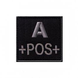 Insigne A+ de groupe sanguin Noir- TOE Pro