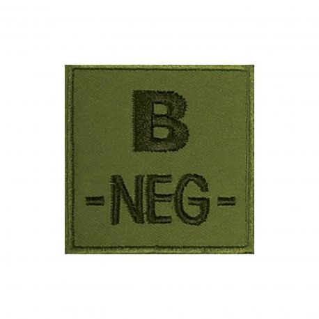 Insigne B- de groupe sanguin Kaki- TOE Pro
