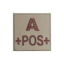 Insigne A+ de groupe sanguin Coyote - TOE Pro