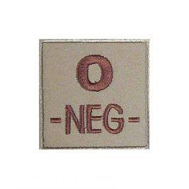 Insigne O- de groupe sanguin Coyote - TOE Pro
