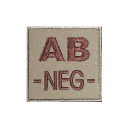 Insigne AB- groupe sanguin Coyote - TOE pro