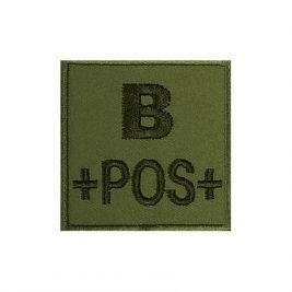 Insigne B+ de groupe sanguin Kaki - TOE Pro