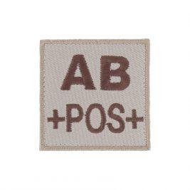 Insigne AB+ de groupe sanguin Coyote - TOE Pro