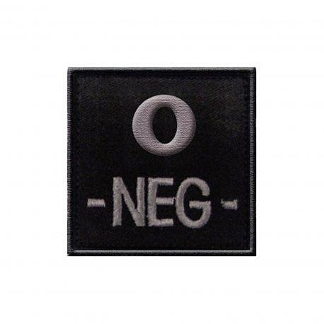 Insigne O- de groupe sanguin Noir -TOE Pro
