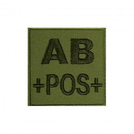 Insigne AB+ de groupe sanguin Kaki- TOE Pro