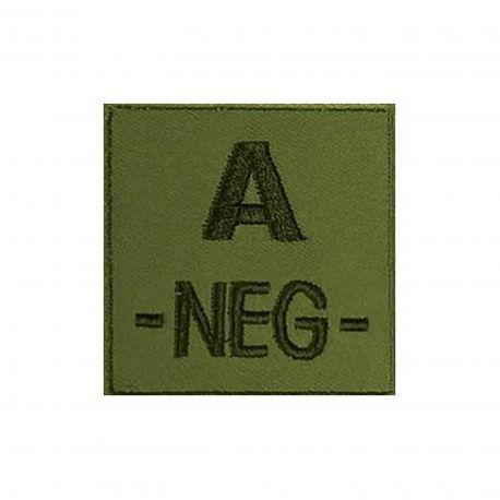 Insigne A- de groupe sanguin Kaki - TOE Pro