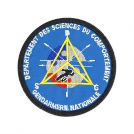 Écusson brodé departement des sciences du comportement