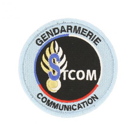 Écusson brodé Gendarmerie Service Technique de la Communication