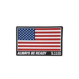 Patch PVC USA rouge - 5.11