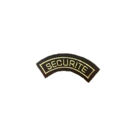 Badge demi-lune SECURITE OR