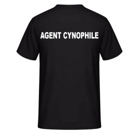 Tee-shirt AGENT CYNOPHILE Noir - Vetsecurite