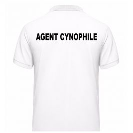 Polo AGENT CYNOPHILE Blanc - Vetsecurite