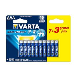 Lot de 10 piles AAA High Energy - Varta