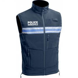 Gilet Softshell Police Municipale PM One sans manches - TOE