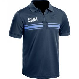 Polo Police respirant Police Municipale PM One Bleu manches courtes - TOE