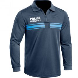 Polo Police Municipale P.M. ONE manches longues bleu - TOE Concept