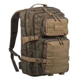 Sac à dos US Assault Pack LG vert/coyote - Miltec