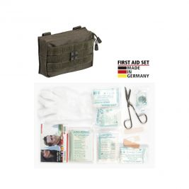 Trousse de premier secours Leina Pro. de 25 pièces vert olive - Miltec