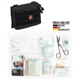 Kit de premier secours Leina Pro. de 25 pièces noir - Miltec