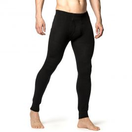 Collant long avec zip Johns 200 noir - Woolpower