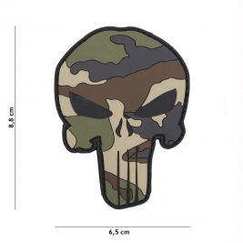 Patch 3D Punisher Camo français en PVC - 101 Inc