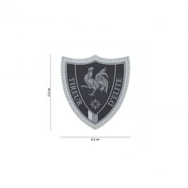 Patch 3D tireur d'élite en PVC - gris - 101 Inc