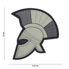 Patch 3D casque de romain en PVC - gris - 101 Inc