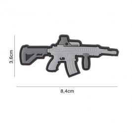 Patch 3D arme M4 en PVC - gris - 101 Inc