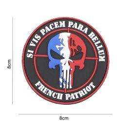 Patch 3D patriote français en PVC - 101 Inc