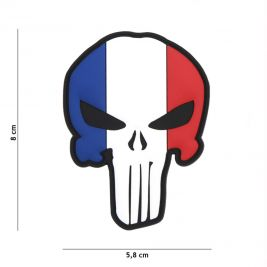 Patch 3D Punisher français en PVC - 101 Inc