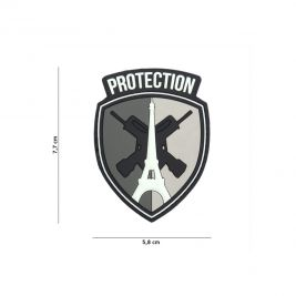 Patch blason protection en PVC gris - 101 Inc