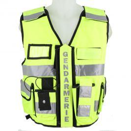 Gilet haute visibilité gendarmerie Jaune - VVS