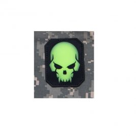 Patch moral crâne de pirate luminescent en PVC - Mil-Spec