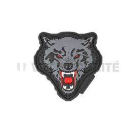 Patch loup féroce noir/rouge - JTG