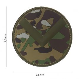 Patch 3D Spartan shield en PVC multicamo - 101 Inc