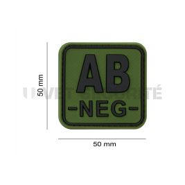 Patch carré groupe sanguin AB- Vert OD - JTG
