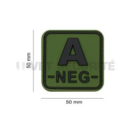Patch groupe sanguin A- Vert OD - JTG