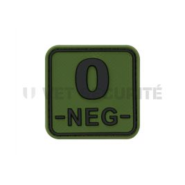Patch carré groupe sanguin O- vert OD - JTG