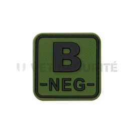 Patch groupe sanguin B- Vert OD - JTG