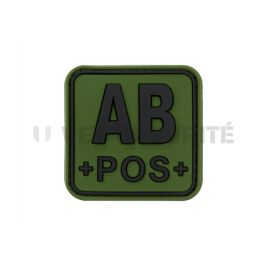 Patch carré groupe sanguin AB+ Vert OD - JTG