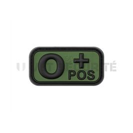 Patch groupe sanguin O+ Vert OD - JTG
