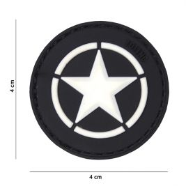 "Patch 3D en PVC ""Allied star"" Noir - 101 Inc"