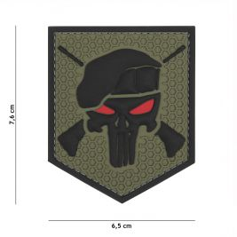 Patch 3D en PVC Punisher Commando Vert - 101 Inc