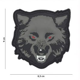 Patch 3D PVC Loup Gris - 101 Inc