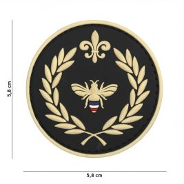 Patch 3D PVC Napoleon abeille Noir - 101 Inc
